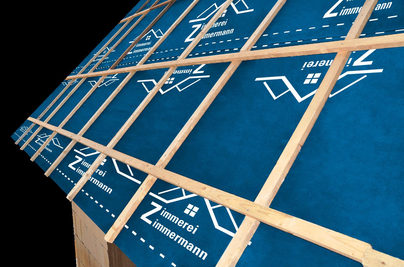 Idividuelle Dachnbahnen auf dem Dach